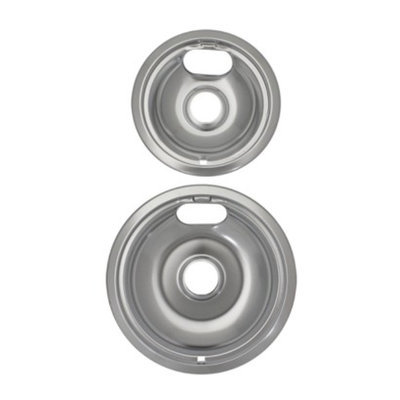 Range Kleen Universal Drip Bowls 2-pk. - Chrome