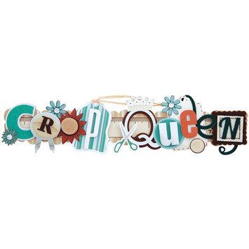 Karen Foster Design, Llc. Karen Foster Scrapbooking Stacked Statement 3-D Title Sticker, Crop Queen