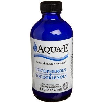 Aqua-E Water-Soluble Vitamin E; Tocopherols & Tocotrienols; 8 fl oz (237 ml) Glass Bottle