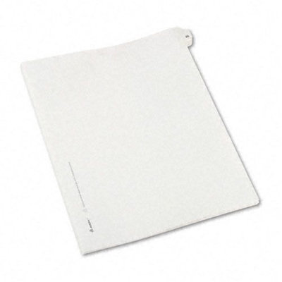 Avery Allstate-Style Legal Side Tab Divider, Title: 25, Letter, White, 25/Pack