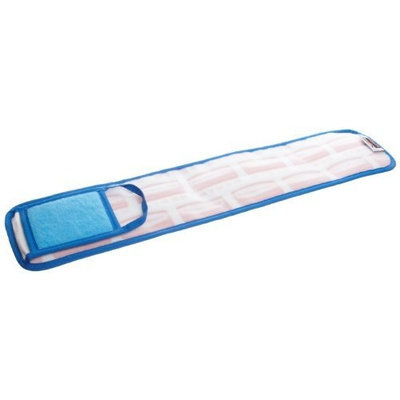 Rubbermaid Commercial Products Rubbermaid Commercial FGQ42500BL00 HYGEN Microfiber Mop Pad, Damp with Scrubber, Single-Sided, 24-inch, Blue