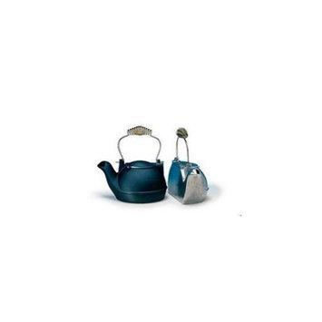 Woodeze 5CN-HK-B 2 Quart Black Half Kettle - Brass Handle