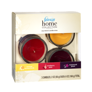 Febreze Home Collection Candle Trios