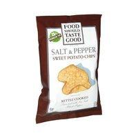 Food Should Taste Good Kettle Cooked Salt & Pepper Sweet Potato Chips
