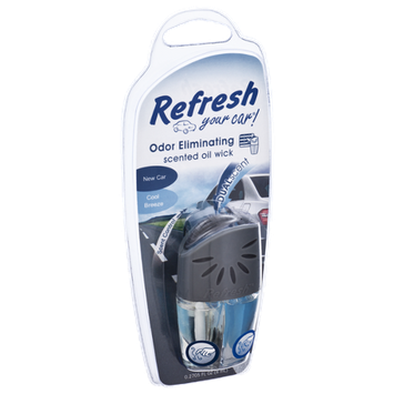 Refresh New Car/Cool Breeze Scented Car Oil Wick