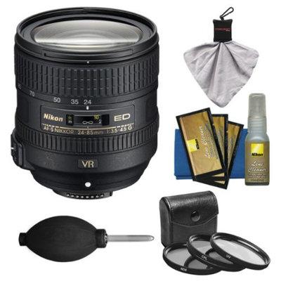 Nikon 24-85mm f/3.5-4.5G VR ED AF-S Nikkor-Zoom Lens with 3 UV/CPL/ND8 Filters Kit for D3200, D3300, D5200, D5300, D7100, D610, D750, D800, D810, D4s Camera