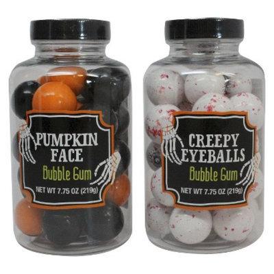Maud Borup Inc Creepy Gumball Jar: Pumpkin Face, Eyeballs Assorted 7.75 oz
