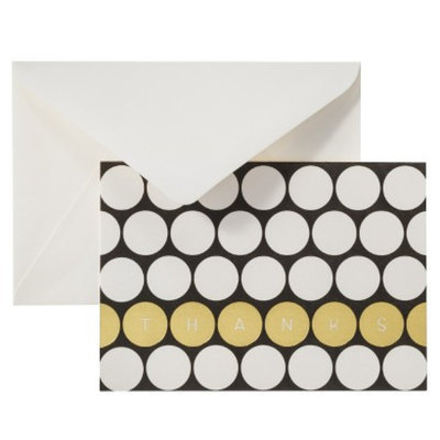 Anna Griffin Thank You Card Pack - Black/Gold Dots 50ct