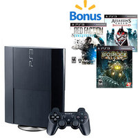 PS3 Super Value Console Bundle with Your Choice of 3 Games