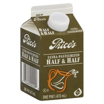 Dean Foods Price's Ultra-Pasteurized Half & Half 1 pint
