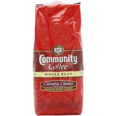 Community Coffee Whole Bean Coffee, Colombia Classico Blend, 12-Ounce Bags (Pack of 3)