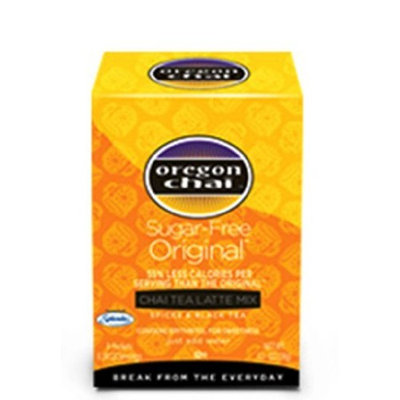 Davinci Oregon Chai Tea Latte Mix, Sugar Free Original, 8-Count Boxes (Pack of 6)