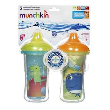 Munchkin Click Lock 9oz Insulated Sippy Cups