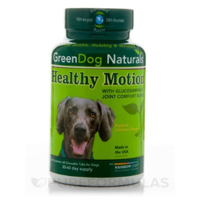 Green Dog Naturals 0553388 Rainbow Light Healthy Motion for Dogs Natural Chicken - 60 Chewables