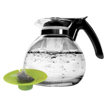 Primula 2Qt Whistling Glass Tea Kettle with Tea Buddy