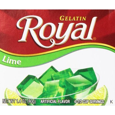 Royal Gelatin, Lime, 1.4-Ounce (Pack of 12)