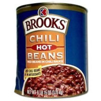 Birds Eye Foods Brooks Hot Chili Bean - no. 10 can, 6 cans per case