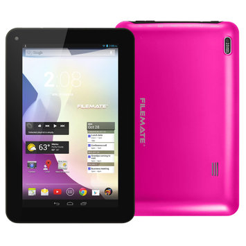 Filemate FileMate(R) ClearX2 Tablet With 7in. Touch-Screen Display Dual-Core Processor, 16GB Storage, Magenta