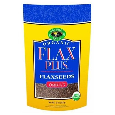 Nature's Path Organic FlaxPlus Flaxseeds, 15-Ounce Bags (Pack of 6)