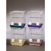 Topdawg Pet Supply Prevue Pets Products Economy Keet/Tiel Cages 4pk Assorted Colors 16in x 16in x 22in