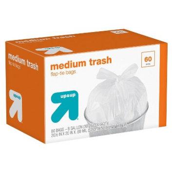 up & up Medium Flap-Tie Closure Trash Bags 8 gal 60 ct