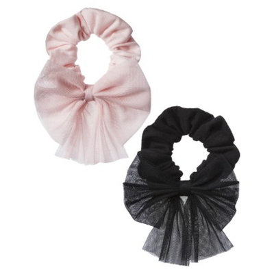 Freestyle by Danskin Girls' Hair Scrunchie - Black/Pink