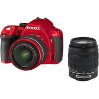 Pentax K-50 DSLR Camera with 18-55mm f-3.5-5.6 and 50-200mm f-4-5.6 Lenses, Red