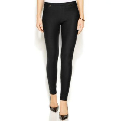 black jeans MICHAEL Michael Kors Pull-On Denim Leggings