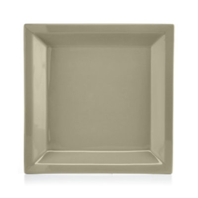 Martha Stewart Collection Harlow Oyster Shell Square Dinner Plate