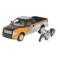 Maisto Harley-Davidson 1:24 2000 Fat Boy with Ford F-150 STX Pickup