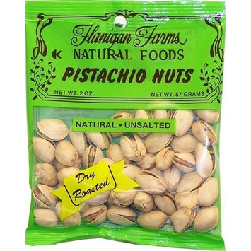 Flanigan Farms Natural Foods Pistachios, Dry Roasted, Unsalted 2oz (6 Pack)