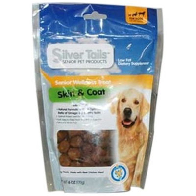 Silver Tails Natural Smoke Skin and Coat Wellness Dog Soft Chew Treats, 6-Ounce