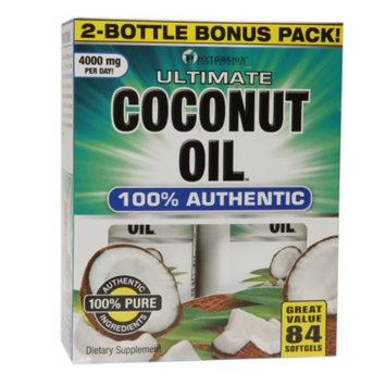 PhytoGenix Ultimate Coconut Oil 100% Authentic, Softgels