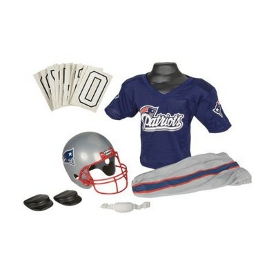 Franklin Sports NFL Patriots Deluxe Helmet and Uniform Set - Small