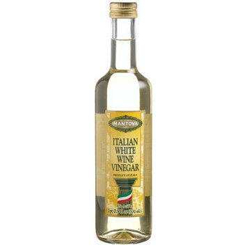 Mantova Italian White Wine Vinegar, 17-Ounce Bottles (Pack of 4)