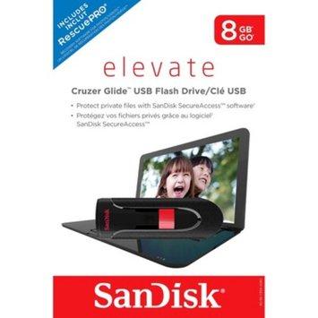 SanDisk Cruzer Glide 8GB USB Flash Drive - Black/Red (SDCZ60-008G-T11)