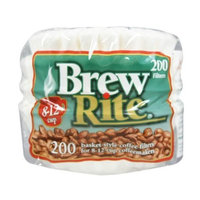 Brew Rite Basket Coffee Filters, 8-12 Cup, White Paper, 200-Count Bags (Pack of 12)