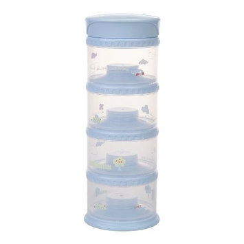 Innobaby Packin' smart Four Tier Travels Stack N Seal Food Storage System, Blue (Discontinued by Manufacturer)