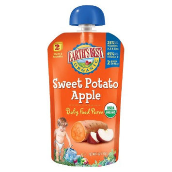 Earth's Best Baby Food Pouch - Sweet Potato Apple 4oz (12 Pack)