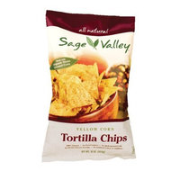 Sage Valley Tortilla Chips, Yellow Corn, Omega 3, 16-Ounce Bags (Pack of 12)