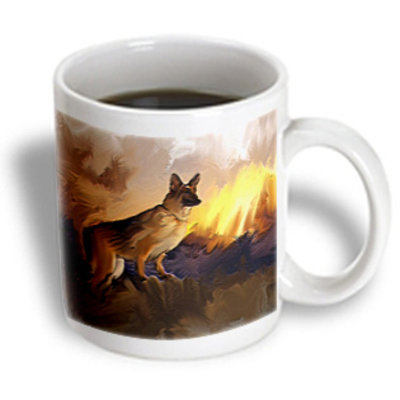 Recaro North 3dRose - Dinzas Art Dogs - German Shepherd - 15 oz mug