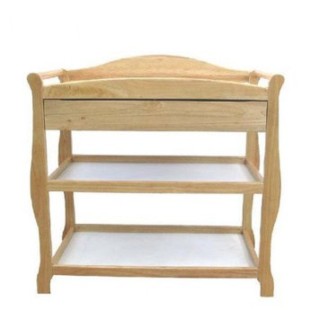 La Baby L.A. Baby Changing Table w/Drawer - Natural