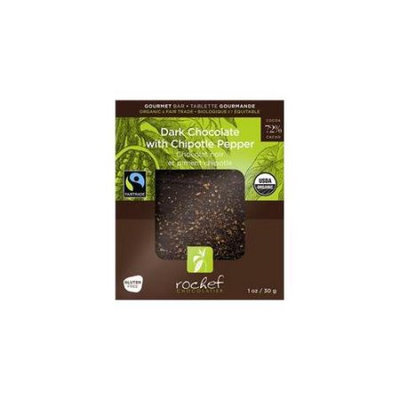 Rochef USA30DCH 30g Dark 72 Percent Chocolate And Chipotle Pepper Case - 12