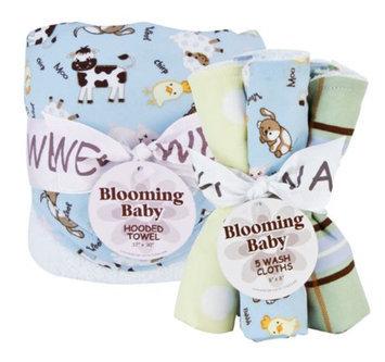 Trend Lab Baby Barnyard Hooded Towel & Wash Cloth Set Kid's