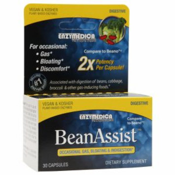 Enzymedica BeanAssist Occassional Gas, Bloating, Indigestion, Capsules, 30 ea