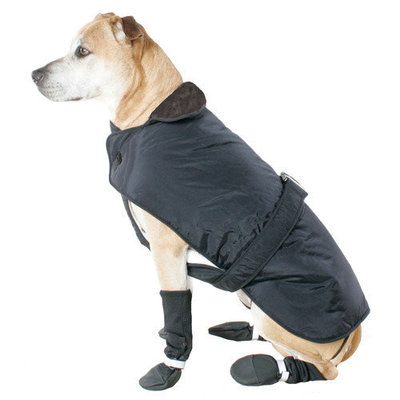 Muttluks Belted Dog Coat in Black