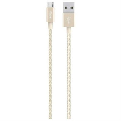 Belkin MIXIT↑ Metallic Micro-USB to USB Cable - USB for Smartphone, Tablet, Computer - 4 ft - 1 x Type A Male USB - 1 x Male Micro USB - GoldShow More + - F2CU021bt04-GLD