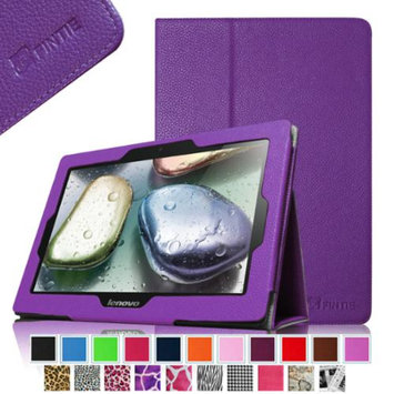 Fintie Folio Leather Case Cover with Auto Sleep / Wake Feature for Lenovo IdeaTab S6000 10.1-Inch Android Tablet, Violet