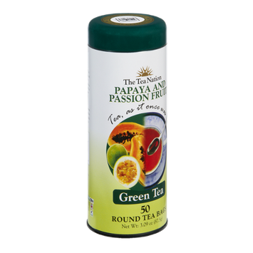 The Tea Nation Papaya and Passion Fruit Green Tea Bags - 50 CT