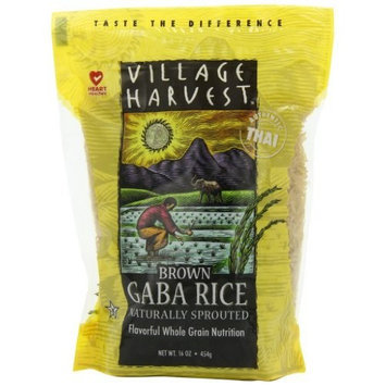 Village Harvest Thai Sprouted Brown Gaba Rice, 16-Ounce (Pack of 6)